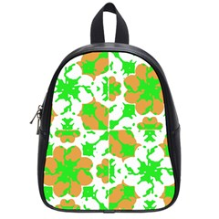 Graphic Floral Seamless Pattern Mosaic School Bags (Small)