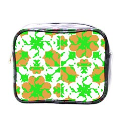Graphic Floral Seamless Pattern Mosaic Mini Toiletries Bags