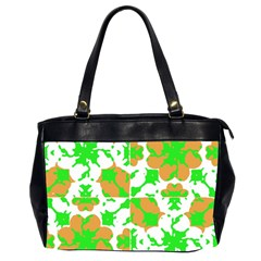 Graphic Floral Seamless Pattern Mosaic Office Handbags (2 Sides)