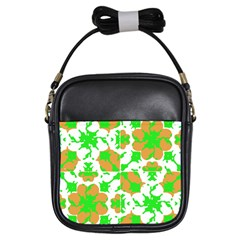 Graphic Floral Seamless Pattern Mosaic Girls Sling Bags