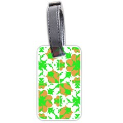 Graphic Floral Seamless Pattern Mosaic Luggage Tags (Two Sides)