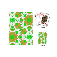Graphic Floral Seamless Pattern Mosaic Playing Cards (Mini)