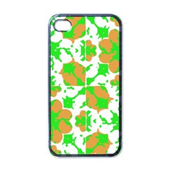 Graphic Floral Seamless Pattern Mosaic Apple iPhone 4 Case (Black)