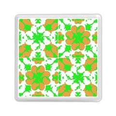 Graphic Floral Seamless Pattern Mosaic Memory Card Reader (Square)