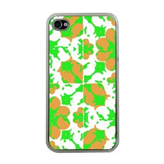 Graphic Floral Seamless Pattern Mosaic Apple iPhone 4 Case (Clear)