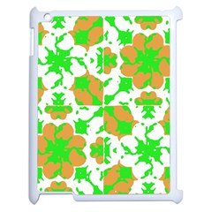 Graphic Floral Seamless Pattern Mosaic Apple iPad 2 Case (White)