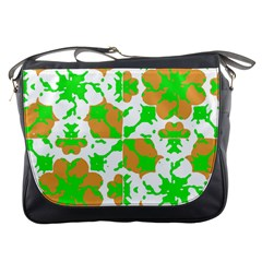 Graphic Floral Seamless Pattern Mosaic Messenger Bags