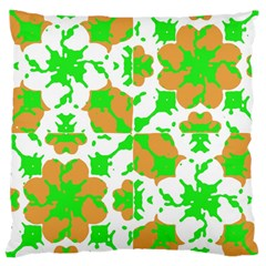 Graphic Floral Seamless Pattern Mosaic Large Cushion Case (Two Sides)