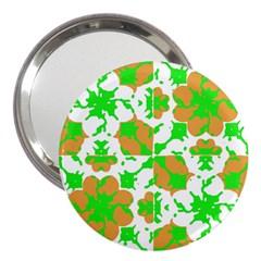 Graphic Floral Seamless Pattern Mosaic 3  Handbag Mirrors