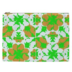 Graphic Floral Seamless Pattern Mosaic Cosmetic Bag (XXL)