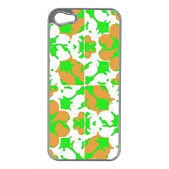 Graphic Floral Seamless Pattern Mosaic Apple iPhone 5 Case (Silver)