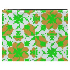 Graphic Floral Seamless Pattern Mosaic Cosmetic Bag (XXXL)