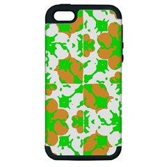 Graphic Floral Seamless Pattern Mosaic Apple iPhone 5 Hardshell Case (PC+Silicone)