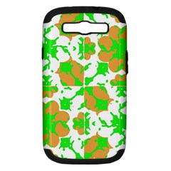 Graphic Floral Seamless Pattern Mosaic Samsung Galaxy S III Hardshell Case (PC+Silicone)