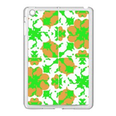 Graphic Floral Seamless Pattern Mosaic Apple iPad Mini Case (White)