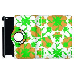 Graphic Floral Seamless Pattern Mosaic Apple iPad 3/4 Flip 360 Case