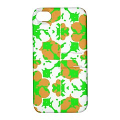 Graphic Floral Seamless Pattern Mosaic Apple iPhone 4/4S Hardshell Case with Stand