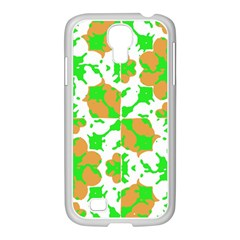 Graphic Floral Seamless Pattern Mosaic Samsung GALAXY S4 I9500/ I9505 Case (White)