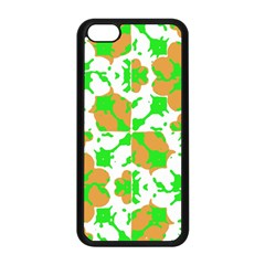 Graphic Floral Seamless Pattern Mosaic Apple iPhone 5C Seamless Case (Black)