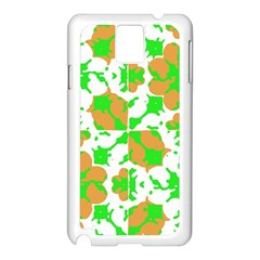 Graphic Floral Seamless Pattern Mosaic Samsung Galaxy Note 3 N9005 Case (White)