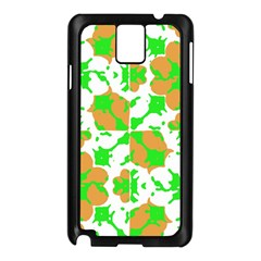 Graphic Floral Seamless Pattern Mosaic Samsung Galaxy Note 3 N9005 Case (Black)