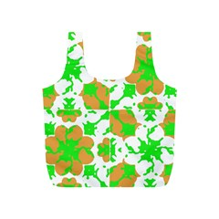 Graphic Floral Seamless Pattern Mosaic Full Print Recycle Bags (S)