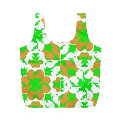 Graphic Floral Seamless Pattern Mosaic Full Print Recycle Bags (M)