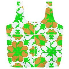 Graphic Floral Seamless Pattern Mosaic Full Print Recycle Bags (L)