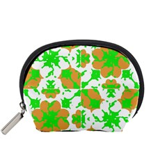 Graphic Floral Seamless Pattern Mosaic Accessory Pouches (Small)