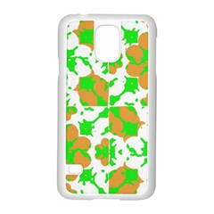 Graphic Floral Seamless Pattern Mosaic Samsung Galaxy S5 Case (White)