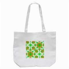 Graphic Floral Seamless Pattern Mosaic Tote Bag (White)