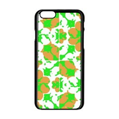 Graphic Floral Seamless Pattern Mosaic Apple iPhone 6/6S Black Enamel Case