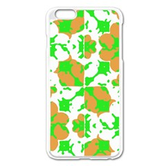 Graphic Floral Seamless Pattern Mosaic Apple iPhone 6 Plus/6S Plus Enamel White Case