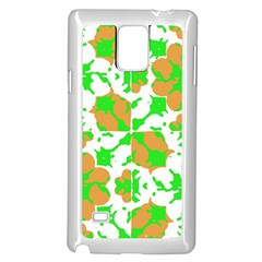 Graphic Floral Seamless Pattern Mosaic Samsung Galaxy Note 4 Case (White)