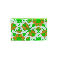 Graphic Floral Seamless Pattern Mosaic Cosmetic Bag (XS)