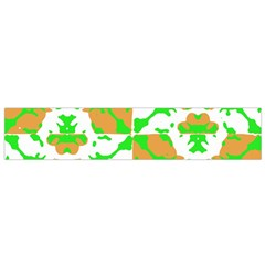 Graphic Floral Seamless Pattern Mosaic Flano Scarf (Small)