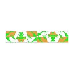 Graphic Floral Seamless Pattern Mosaic Flano Scarf (Mini)