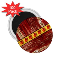 Wood And Jewels 2 25  Magnets (100 Pack)