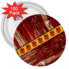 Wood And Jewels 3  Buttons (100 Pack)