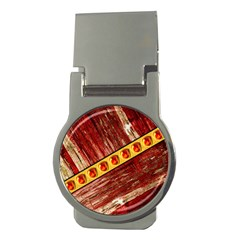 Wood And Jewels Money Clips (round)