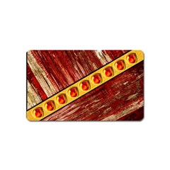Wood and jewels Magnet (Name Card)