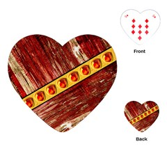 Wood And Jewels Playing Cards (heart)