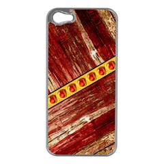 Wood And Jewels Apple Iphone 5 Case (silver)