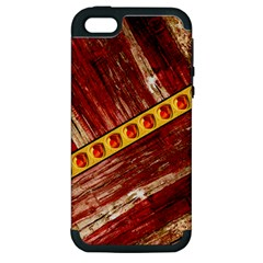 Wood and jewels Apple iPhone 5 Hardshell Case (PC+Silicone)
