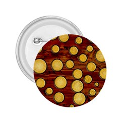 Wood and gold 2.25  Buttons