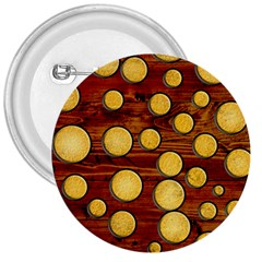 Wood And Gold 3  Buttons
