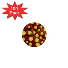 Wood and gold 1  Mini Magnets (100 pack)