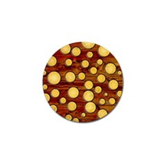 Wood And Gold Golf Ball Marker (4 Pack)