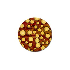 Wood And Gold Golf Ball Marker (10 Pack)