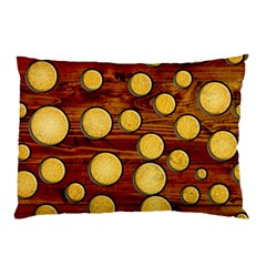 Wood and gold Pillow Case